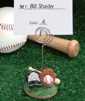 Baseball Themed Place Card Holder